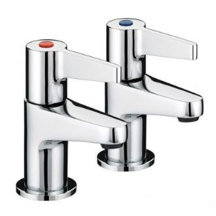 Bristan Design Utility Lever Contract Basin Taps